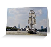 Tall Ship Morgenster Greeting Card