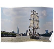 Tall Ship Morgenster Poster