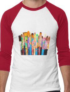 Colour Pens Men's Baseball ¾ T-Shirt