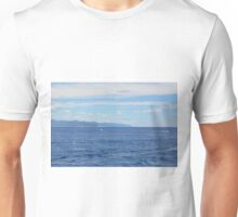 Beautiful natural landscape with the Ligurian Sea from Portofino. Unisex T-Shirt