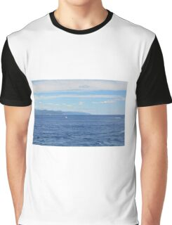 Beautiful natural landscape with the Ligurian Sea from Portofino. Graphic T-Shirt
