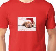 Christmas Dogue de Bordeaux Card Unisex T-Shirt