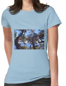 Beautiful natural landscape with the Ligurian Sea from Portofino. Womens Fitted T-Shirt