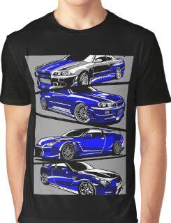 Paul Walker GTR Graphic T-Shirt