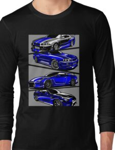 Paul Walker GTR Long Sleeve T-Shirt