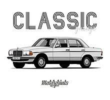 Mercedes-Benz E-klass (W123) (white) Photographic Print