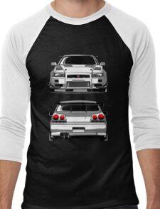 Nissan GTR R34 Men's Baseball ¾ T-Shirt