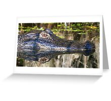 Gator reflections!! Greeting Card