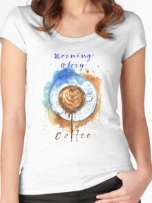 Coffee Glory  Women's Fitted Scoop T-Shirt