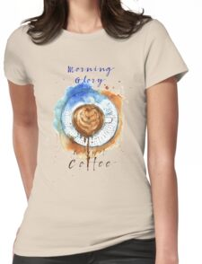 Coffee Glory  Womens Fitted T-Shirt