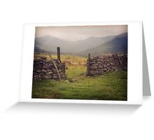 Nevis Mountian range Greeting Card
