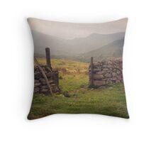 Nevis Mountian range Throw Pillow