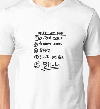 List Unisex T-Shirt