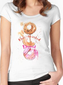 Hole-hearted Donut Women's Fitted Scoop T-Shirt