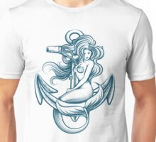 Mermaid on the Anchor Unisex T-Shirt