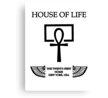 House of Life, New York Nome Canvas Print