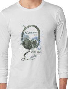 World in Headphones Long Sleeve T-Shirt