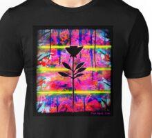 BLACK FLOWER by The Spilt ink Unisex T-Shirt