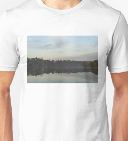 Supermoon Moonset Panoramic Reflections Unisex T-Shirt