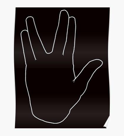 Star Trek Salute, Live Long and Prosper, White Poster