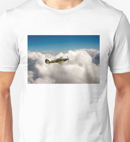 Hawker Hurricane above clouds Unisex T-Shirt