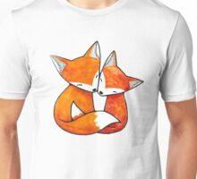Hugging Foxes Unisex T-Shirt