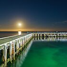 St Leonards Pier with Full Moon by susanzentay