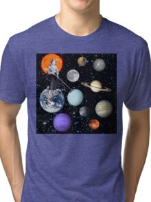 She's cleaning Uranus Tri-blend T-Shirt