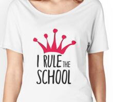 I rule the school sign with pink crown Women's Relaxed Fit T-Shirt