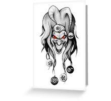 Smiling Evil Clown Greeting Card