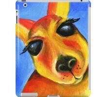 Kangaroo face whimsical art iPad Case/Skin