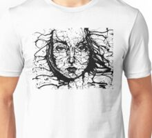 Woman Face Abstract Unisex T-Shirt