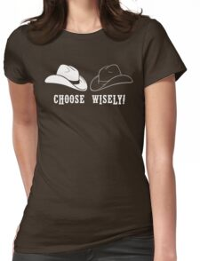 Black Hat or White Hat Womens Fitted T-Shirt
