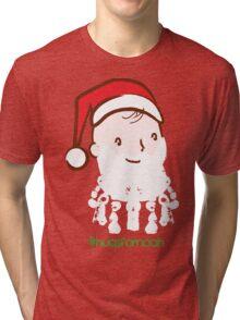 #HugsForNoah Santa Christmas Jumper Tri-blend T-Shirt