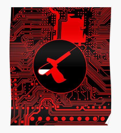 Cybergoth - Syringe (red) Poster