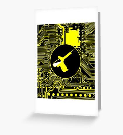 Cybergoth - Syringe (yellow) Greeting Card