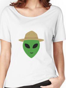 Alien with park ranger hat Women's Relaxed Fit T-Shirt