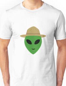 Alien with park ranger hat Unisex T-Shirt