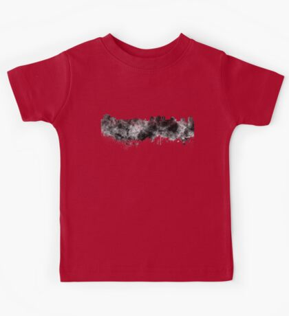 Halifax skyline in black watercolor on white background Kids Tee