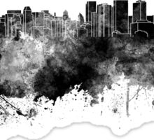 Halifax skyline in black watercolor on white background Sticker