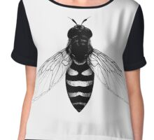 Flying Bee - insect illustration Chiffon Top