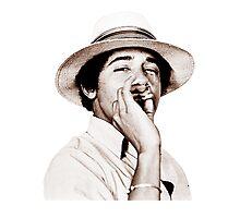 Obama Smoking weed Photographic Print