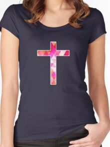 Jesus Cross Women's Fitted Scoop T-Shirt
