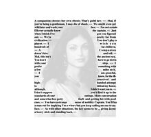 Firefly Quotes - Inara Serra Photographic Print