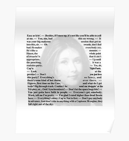 Firefly Quotes - Kaylee Frye Poster