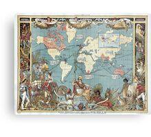 World map-British Empire-1886 Metal Print