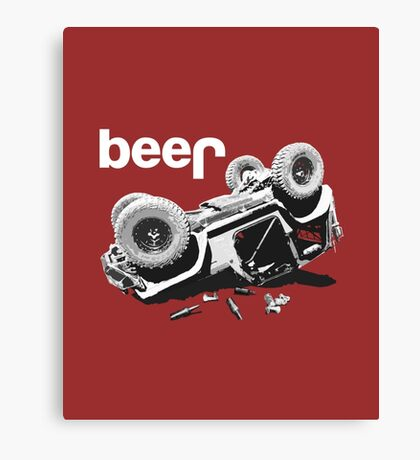 Funny Beer4x4 Canvas Print