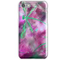 Lime Green Dragonfly Flit iPhone Case/Skin