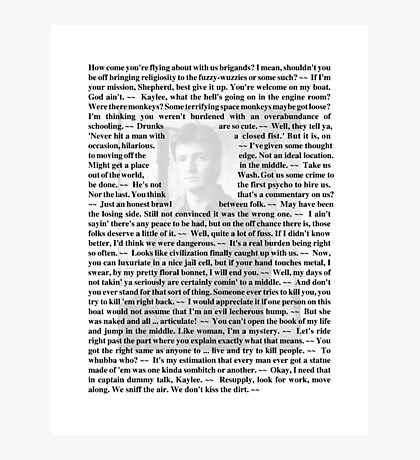 Firefly Quotes - Malcolm Reynolds - 1 Photographic Print