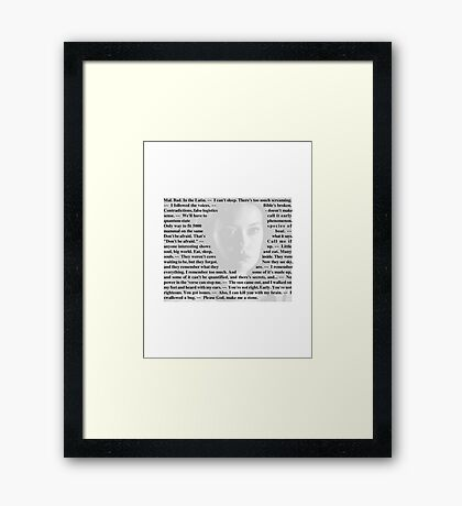 Firefly Quotes - River Tam Framed Print